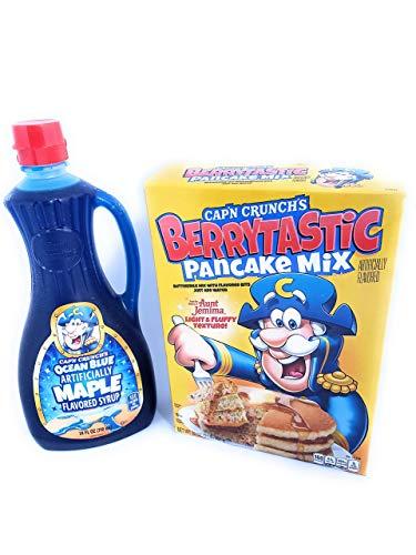 Capn Crunch Aunt Jemima Berrytastic Pancake Mix & Ocean Blue Maple Syrup - PACK OF 2