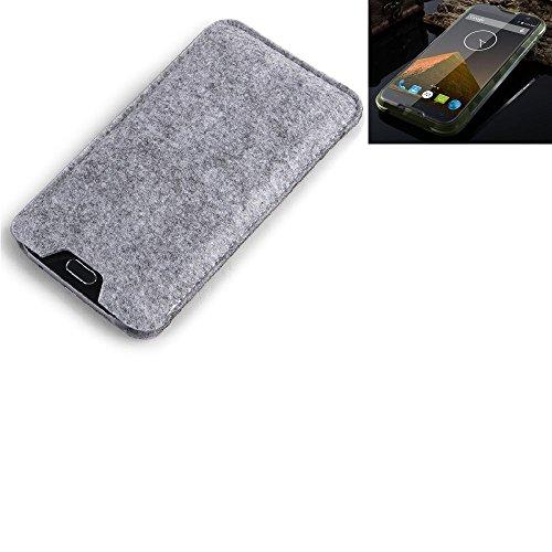 K-S-Trade® Filz Schutz Hülle Für Blackview BV 5000 Schutzhülle Filztasche Filz Tasche Case Sleeve Handyhülle Filzhülle Grau