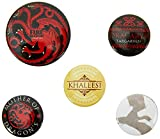 AMBROSIANA Pyramid International Game of Thrones Fuoco e Sangue Badge, 5 spille...