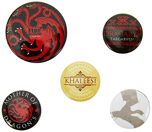 Pyramid International Pack de chapas Game of Thrones (Fire and Blood), Multicolor, 10 x 12.5 x 1.3 cm