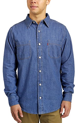 Levi's Men's Classic Denim Workshirt, Stonewash, Large