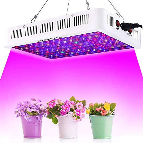 Growstar 600W LED Plant Lights for Indoor Plants, Optical Lens 12-Band Full Spectrum Grow Light for Garden Greenhouse Hydroponic UV&IR with Veg and Bloom Switch(120pcs LEDs)