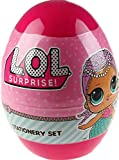 LOL Surprise Stationery Egg, Children's School Pens,Pencils,Stamps Colouring Set