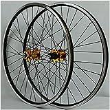 KZEE Mountain Bike Cycling Wheelset 26 Inch, Double Wall Aluminum Alloy MTB Rim V-Brake Hybrid Freewheel 7 8 9 10 Speed Disc Wheels