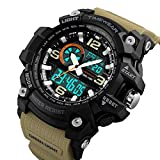 TIMEWEAR Analogue - Digital Men's Watch (Black Dial Brown Colored Strap)