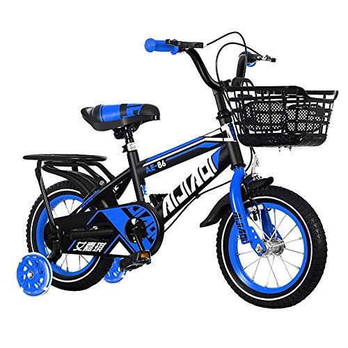 HUAQINEI Bicicleta para niños, Cesta y Ruedas de 12/14/16/18 Pulgadas, Bicicleta para Exteriores, 2-13 años
