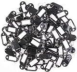 Hotel Key Labels Organizer - LeBeila 100 Plastic Key Tags with Label Window, Metal Split R...
