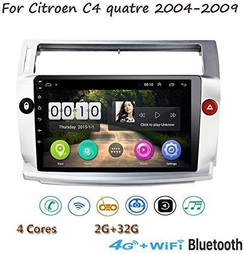 Radio De Navegación De Música Gps Estéreo Android 8.1, Para Citroen C4 Quatre 2004-2009, Reproductor Multimedia Con Pantalla Táctil Hd De 9 '1080P, Control De Volante Con Enlace De Espejo Bluetooth Sw