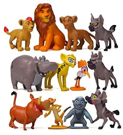 The Lion King Action Figures, The Lion King Toys Collectible Figures Set of 12 Pcs Cake Decoration,1.39~2.07 inch inches Mini Figurines Toy Party Supplies