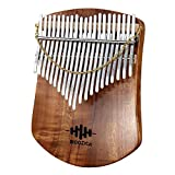 MOOZICA カリンバ 21キー C調 初心者向けかりんば 高品質アカシアコア木材 Kalimba 21key親指ピアノ 楽器 調音ハンマー 日本語説明書と楽譜 防振収納ケース付き