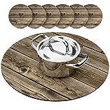 Holz Farmhouse Teekanne Topfuntersetzer-Set, Hot Pad für Tisch mit 610,2cm Tasse Untersetzer,...