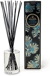 Voluspa Maison Noir Collection Home Ambience Diffuser, Lichen and Vetiver, 6 Ounce