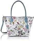 Rieker Handtasche, Bolsa de noche para Mujer, Multicolor (ice-multi/blau), 280x130x400 centimeters (B x H x T)