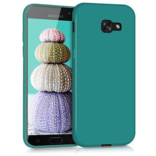 kwmobile Custodia Compatibile con Samsung Galaxy A5 (2017) - Cover in Silicone TPU - Back Case per Smartphone - Protezione Gommata Petrolio Matt