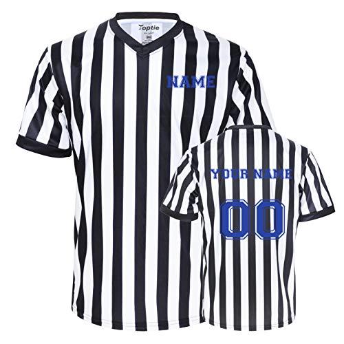 Camiseta de árbitro con Cuello en V con Bordado de impresión Personalizada al por Mayor TOPTIE Jersey-Printing-XL