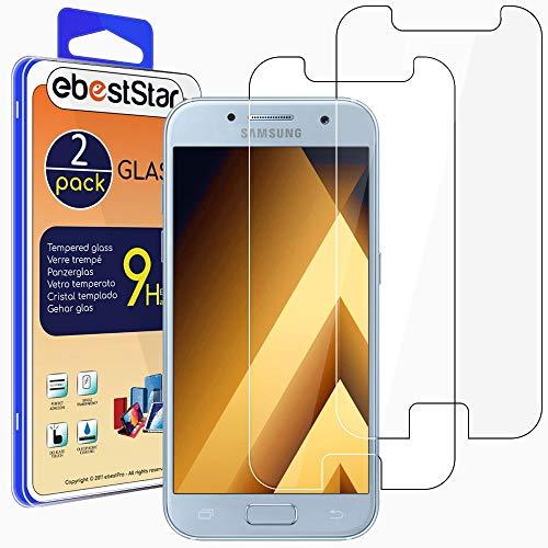 ebestStar - [2 Pack Cristal Templado Compatible con Samsung A5 2017 Galaxy SM-A520F Protector de Pantalla, Película Vidrio Protectora Dureza 9H, Sin-Burbujas [Aparato: 145 x 71 x 7.8mm, 5.2'']