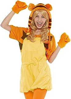 Disney Winnie The Pooh Costume - Casual Pop Tigger Costume - Teen/Women's STD Size Orange