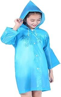 old blue raincoat