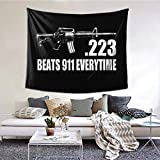 XIAOQIU 223 Caliber Ar15 M16 Assault Rifle 2nd Amendment Tapestry 6051inch Beautiful Tapestry Indoor Tapestries The Bedroom Tapestry