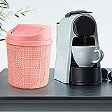 goodspot® Tischmülleimer (rosa) mit Schwingdeckel 1,5l Tischabfalleimer Schreibtisch kompaktes Design Kosmetikeimer Mini Mülleimer Bad für den Waschtisch - 5