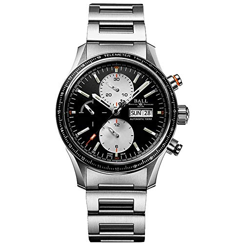 Ball Men's Black Steel Bracelet & Case Anti Reflective Sapphire Automatic...