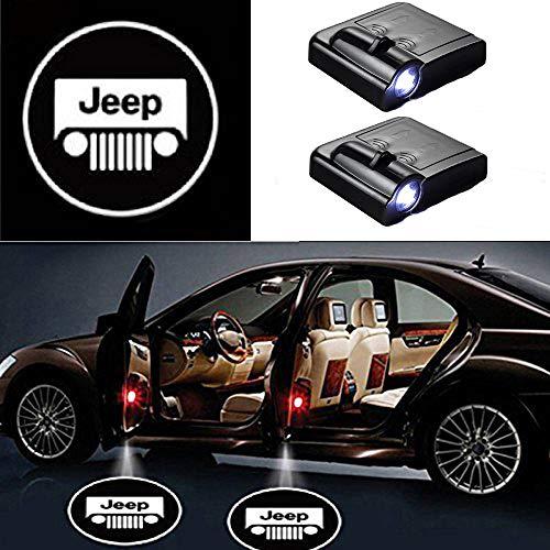 MIVISO 2 Stücke Drahtlose Autotür Led Willkommen Laser Projektor Logo Licht Geist Schatten Licht Lampe Logos