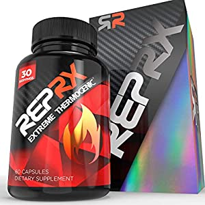 REPRX EXTREME THERMOGENIC Fat Burner Weight Loss Diet Pills | Thermogenic Supplement with Green Tea Extract | Safe Weightloss Appetite Suppressant & Energy Metabolism Booster I L-Tyosine (60 Capsules)