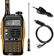 Baofeng GT-3 Makr-II Transceiver, FM Radio, Dual Band 136-174/400-520 MHz, Chipsets Upgraded, ABS Frame and Programming Cable