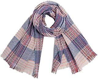 VIOAPLEM VIOAPLEM Gift Autumn Winter Double-faced Tassel Plaid Fashion Scarf Female Scarf Keep Warm Shawl