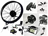 20'/24'/26' 48V 750W Electric Bike Fat Tire Conversion Kit, 750W DC Brushless Geared Hub Motor, Fat Snow Bike Kit with 48V 13Ah hailong Lithium Battery and LCD Display.(204.0 Rear Wheel)