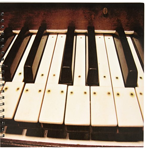 Price comparison product image 3dRose db_20682_2 Piano Keys Memory Book,  12 by 12-Inch