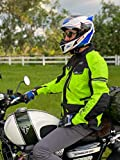 Adventure/Touring Motorcycle Jacket For Men Textile Motorbike CE Armored Waterproof Jackets ADV 4-Season (Hi-Vis Green, 5XL)
