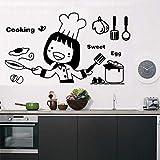 WERWN Etiqueta engomada de la Pared de la Cocina Tenedor...