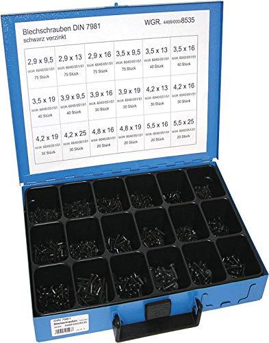 Dresselhaus 0/4499/000/8535// /06 Sortimente Blechschrauben DIN 7981 schwarz verzinkt