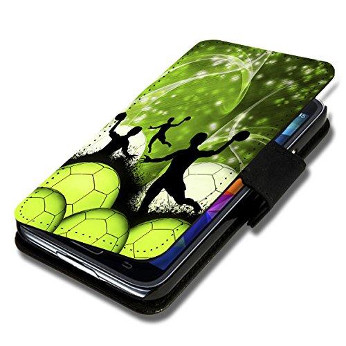 wicostar Book Style Flip Handy Tasche Hülle Schutz Hülle Schale Motiv Etui für Wiko Rainbow Jam - Flip 1A49 Design1