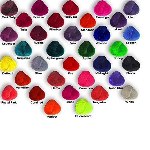 6 x La Riche Directions Semi-Permanent Hair Color 88ml Tubs - CERISE