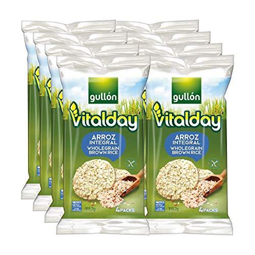 Gullón - Tortitas de Arroz Integral Vitalday, 920 g, Pack de 8
