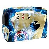Bolsas de Aseo Ciencia ficción BLU Ray Poker Hombres y Mujeres Bolsa de Almacenamiento de Viaje...