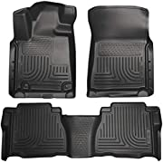 Husky Liners 98581 Fits 2007-11 Toyota Tundra CrewMax/Double Cab Weatherbeater Front & 2nd Seat Floor Mats (Footwell Coverage) , Black