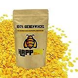 100% reine natürliche Marken Bienenwachs Pastillen aus Deutschland vom Imker für Naturkosmetik Kerzen Bienenwachstücher Leder/Holzpflege honiggelb leicht schmelzend 200 Gramm in Premiumqualität