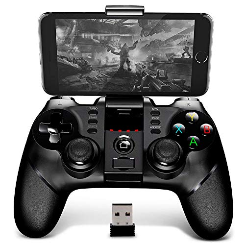 BINDEN Control Inalámbrico OverlordB6 PG-9076 para Smartphone, PS3, Tablet, Emulador, Windows, Función Turbo, 12 Horas de Juego