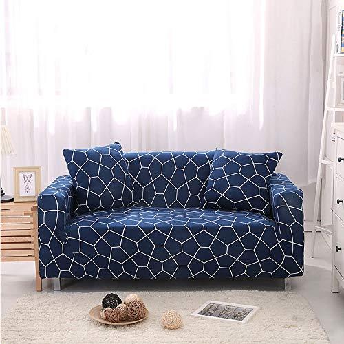 WXQY Funda de sofá elástica Funda de sofá elástica Silla Funda de sofá en Forma de L, Todo Incluido Funda de sofá de Esquina sillón sofá Toalla A19 2 plazas