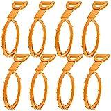 Drenaje Senhai pelo del estorbo Remover, 8 paquetes de drenaje serpiente Equipo / Auger herramienta de limpieza de tipo
