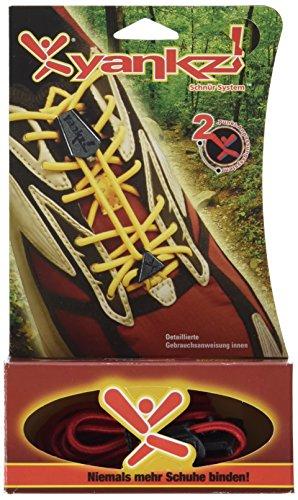 YANKZ - das Schnürstystem–Cordón de Zapatos, Rojo Bandera de Alemania, One Size, Y40–23