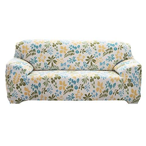 sourcingmap® Haushalt Polyester Blumenmuster Sofa Stuhl Abdeckung Schutz 235-300cm DE