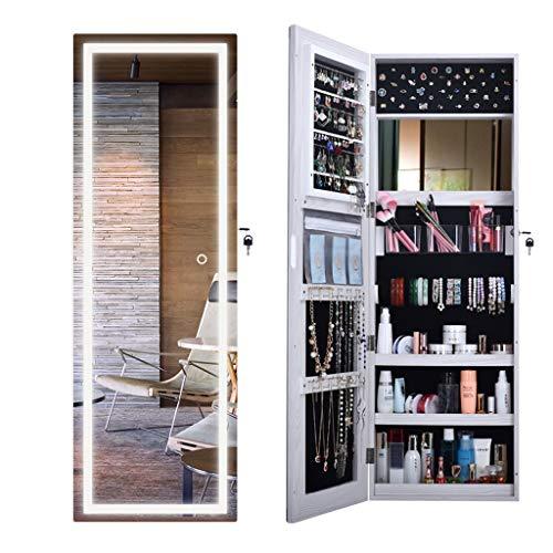 ⛪LDJ Maison avec Lampe Murale Pleine Longueur Miroir Chambre De Stockage Dressing Miroir Porche Miroir Décoratif