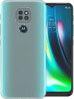 Amagav Shock Proof & Camera Protective Soft Back Case Cover for Motorola Moto G9 (Transparent)