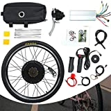 "Sandinrayli 26"" Rear Wheel 48V 1500W Electric Powered Bicycle Motor Cycling Conversion Kit"
