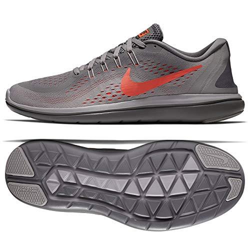Nike Flex 2017 RN 898457-014 Gunsmoke/Grey/Black/Crimson Men's Running Shoes (12 D US)