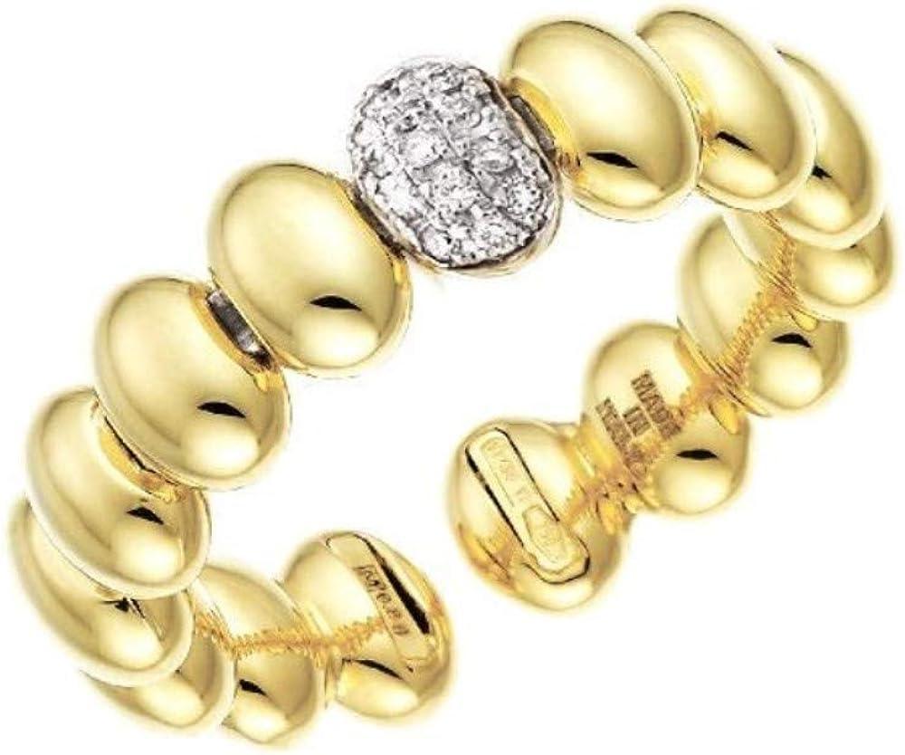 Chimento, anello le marché des merveilles,in oro giallo 18 k,e pavé di diamanti ct. 0.07, 1a01439b12140